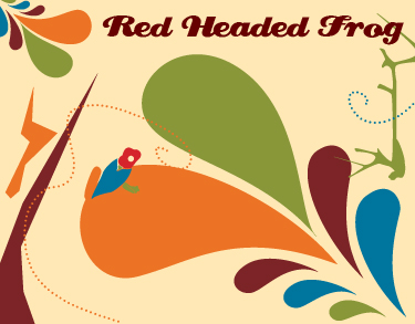 Red Headed Frog Design