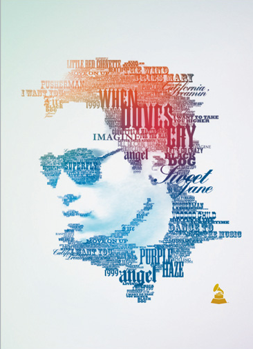 beautiful typography on the 51st grammy awards posters red headed frog. Black Bedroom Furniture Sets. Home Design Ideas